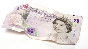 £20 note. UK currency stock photo