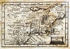 1635 antiker John Drehzahl-KarteColonial Neu-England stock abbildung