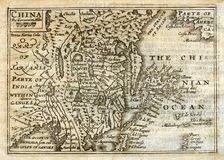 1635 Antique Speed map China Japan Korea Royalty Free Stock Images
