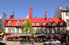 1640年城市魁北克餐馆 库存图片