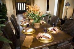 1656 äta middag tabell arkivbilder