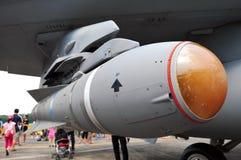 16c d f猎鹰战斗导弹rsaf 免版税库存照片