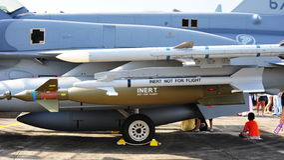16c d f猎鹰战斗导弹rsaf 库存照片