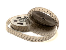 16mm 30m film en spoel Stock Afbeeldingen