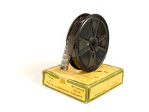 16mm 30m film reel and box Royalty Free Stock Images