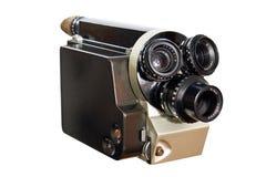 16mm 8mm减速火箭照相机的电影 免版税库存照片