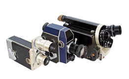 16mm 8mm减速火箭照相机的电影 免版税图库摄影