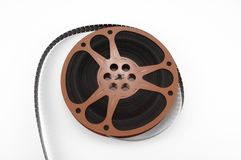 16mm film reel stock photo