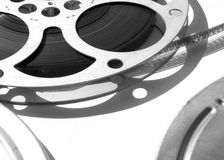 16mm Film Spool. Of monochrome film royalty free stock images