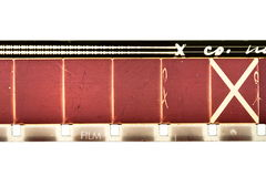 16mm film strip Royalty Free Stock Photos