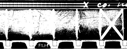 16mm film strip. Vector grunge 16mm film strip with soundtrack Stock Photos