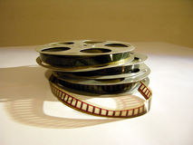 16mm films. Old 16mm films Stock Photography