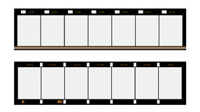 16mm format filmstrip,  picture frames,. 16mm format filmstrip, substandard film picture frames,with free copy space,isolated on white background Royalty Free Stock Photo