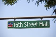 16th Мол улицы Стоковые Изображения