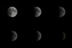 16th 2011 новых Индии июня затмения delhi лунных Стоковое Изображение RF