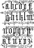16th Century from Wood Engravings. 16th Century Alphabet From Wood Engravings - lowercase Royalty Free Stock Photos