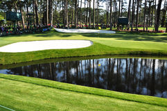 16th Green at Masters. In Augusta, Georgia