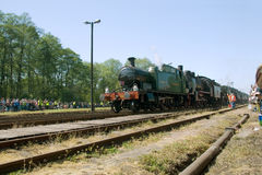 16th Steam Locomotive Parade 2009 - Train 5521. 16th Steam Locomotive Parade 2009 held on 2nd of May during 16th Days of Wolsztyn Land in Wolsztyn Shed, Poland ( stock images
