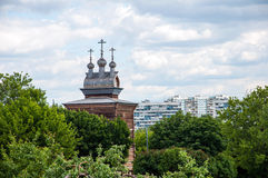 17世纪教会莫斯科木的俄国 库存照片