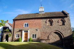 17世纪英国房子ludlow磨房石头 库存照片