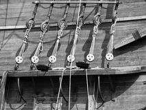 17世纪详细资料galleon 免版税库存图片