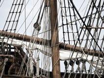 17世纪详细资料galleon 免版税图库摄影