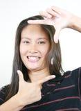 17个亚洲有吸引力的女孩年轻人 免版税库存照片
