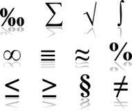 17个图标数学集 皇族释放例证