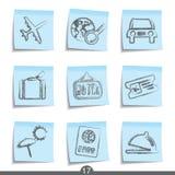 17个图标没有过帐系列旅行 免版税库存照片