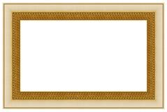 17个框架金黄照片 库存图片