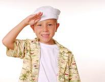 17个男孩水手 免版税图库摄影