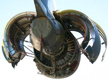 17个航空器c引擎军人 免版税库存照片