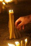 17个蜡烛 库存照片