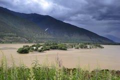 17横向milin西藏 库存照片