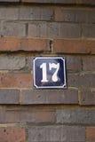 17 αριθμός Στοκ Φωτογραφία