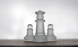 17 κομμάτια σκακιού στοκ εικόνα με δικαίωμα ελεύθερης χρήσης