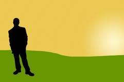 17 бизнесменов теней Стоковые Фотографии RF