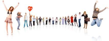17 людей круга Стоковые Фотографии RF