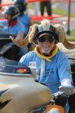 17 2008 ryttare för nc för charlotte universitetslärarejuli motorcykel Arkivfoto