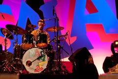 17 2009年节日汉诺威masala可以terrakota 库存照片
