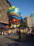 17 8月2008日毕尔巴鄂重创的游行semana鲸鱼 库存照片