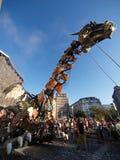 17 8月2008日毕尔巴鄂重创的游行semana鲸鱼 免版税库存照片