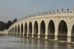 17-Arch Brücke, Sommer-Palast Stockbild