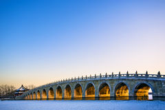 The 17-arch bridge Royalty Free Stock Image