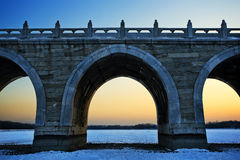 The 17-arch bridge Stock Photography