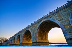 The 17-arch bridge Stock Photo