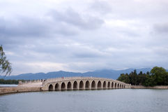 17-Arch bridge,Summer Palace Royalty Free Stock Images