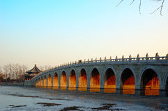 17-Bridge. A 17-Bridge in the summer palace at beijing Royalty Free Stock Photos