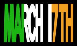17 de marzo con el indicador irlandés Fotos de archivo libres de regalías