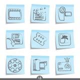 17 ekranowych ikon poczta żadne serie Zdjęcia Royalty Free